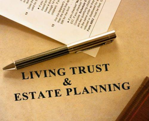 living trust and estate planning legal document signing
