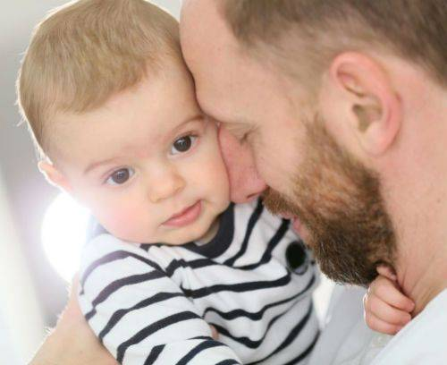 man with his child paternity matter legal document services